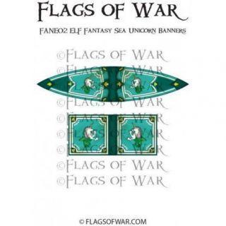 ELF Fantasy Sea Unicorn Banners