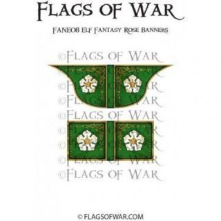 Elf Fantasy Rose Banners