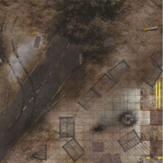 Quarry Zone 3'X3' (90X90CM) - FOR WARHAMMER, WARHAMMER 40K AND OTHER WARGAMES