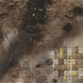 Quarry Zone 4'X4' (120X120CM) - FOR WARHAMMER, WARHAMMER 40K AND OTHER WARGAMES