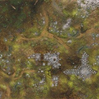 War Fields 4'X4' (120X120CM) - FOR WARHAMMER, WARHAMMER 40K AND OTHER WARGAMES