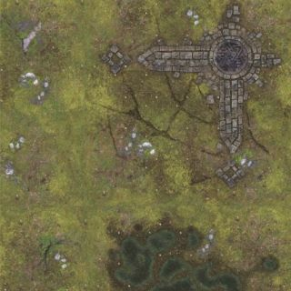 Ruins 2'x 2' (60x60 cm) - FOR WARHAMMER, WARHAMMER 40K AND OTHER WARGAMES