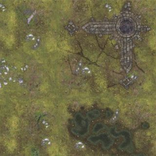 Ruins 3'X3' (90X90CM) - FOR WARHAMMER, WARHAMMER 40K AND OTHER WARGAMES