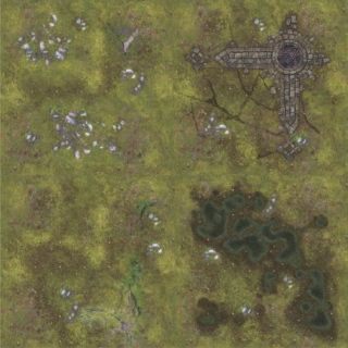 Ruins 4'X4' (120X120CM) - FOR WARHAMMER, WARHAMMER 40K AND OTHER WARGAMES