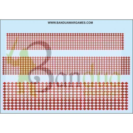 Red and White Diamonds Decal Sheet