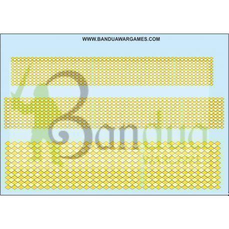 Yellow and White Diamonds Decal Sheet