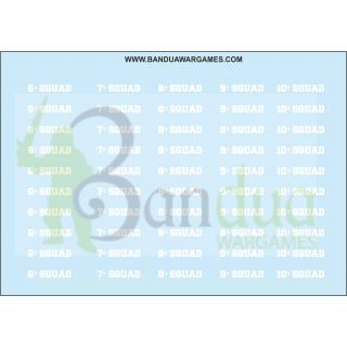 Squads 6 to 7 Decal Sheet for bases