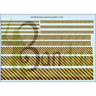 Caution Striped - Varius sizes - Decal Sheet