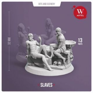 Pair of Male Slaves (with scenery)