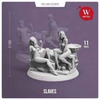 Pair of Female Slaves (with scenery)