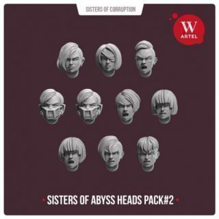 Sisters of Abyss Heads pack1