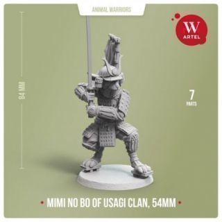 Mimi no Bo, Warrior of Usagi Clan, 54mm scale
