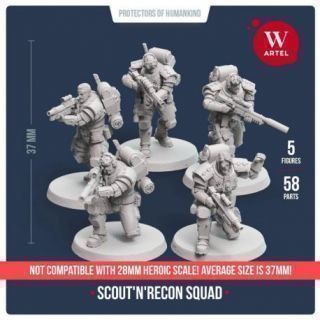 Scout`n`Recon Squad (5 scouts+Heavy Weapon Specialist)