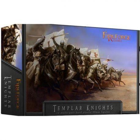 Templar Knights Cavalry : 12 plastic multipart plastic knights