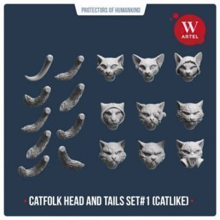 Catfolk Head and Tails Set1 (Cat-like)