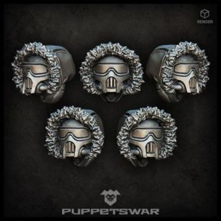 Masked Arctic Troopers heads