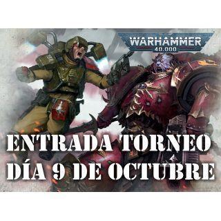 Entrada Torneo Warhammer 40,000. 09/OCT/21