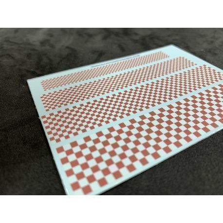 Black and white checkerboard - Various sizes - Decal Sheet