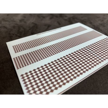 Black and White Diamonds Decal Sheet