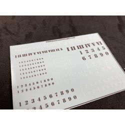 Numbers Decal Sheet