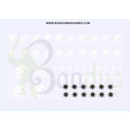 White Dragon Symbol - Decal Sheet