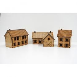 Country houses pack 15 mm ( Flames of War , Napoleonic , WWI , WWII ,)