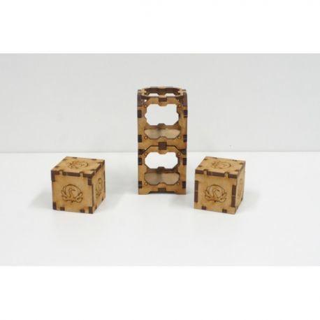 2 Gang Tie Container escenografía para wargames 28mm