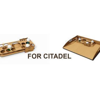 Shelves and organizers for Citadel paint boats